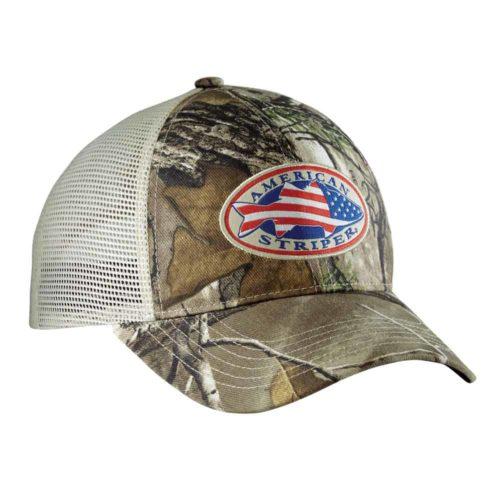 Flying Fisherman American Striper Realtree Camo Trucker Hat