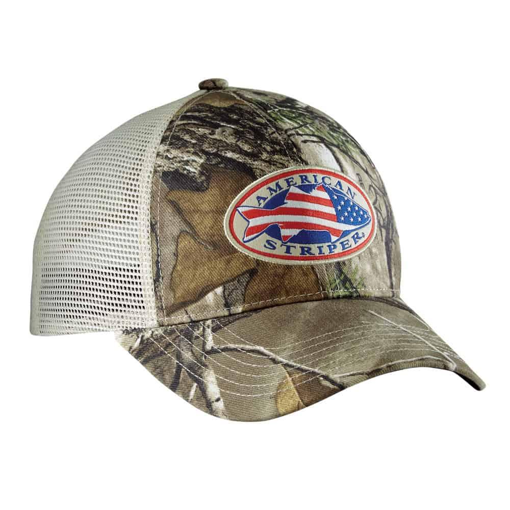 b15e0600d6848 Flying Fisherman American Striper Realtree® Camo Trucker Hat - Salty ...