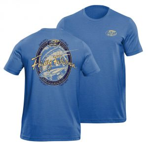 Flying Fisherman Beer Lable Tee True Royal