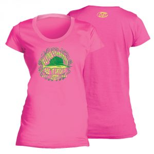 Flying Fisherman Chalk Sail Ladies Tee Hot Pink