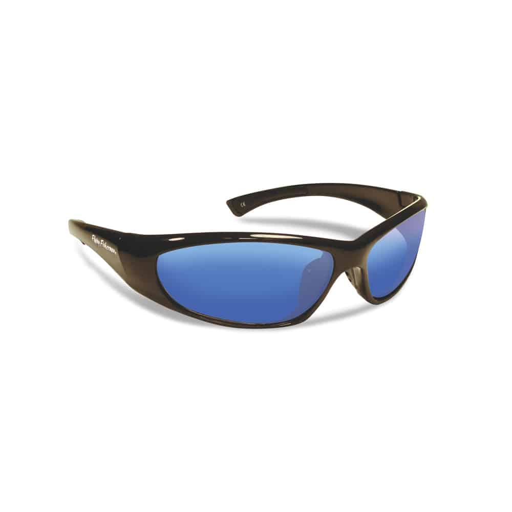 Flying Fisherman JNR Sunglasses Fluke Black Smoke Blue Mirror