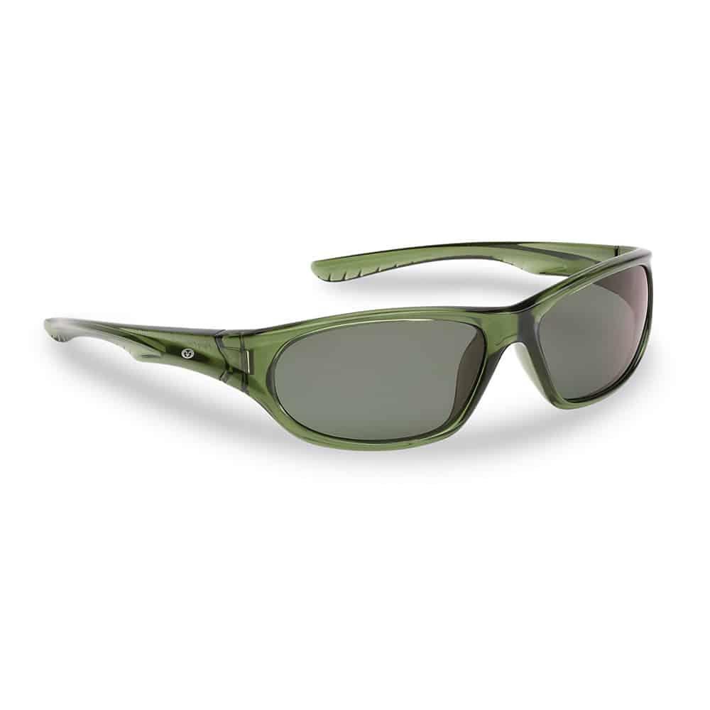 Flying Fisherman JNR Sunglasses Remora Crystal Green Smoke