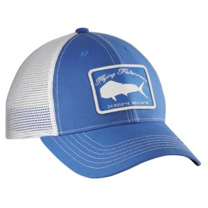 Flying Fisherman Mahi Trucker Hat Blue White