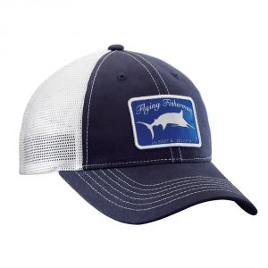 Flying Fisherman Marlin Trucker Hat Navy White