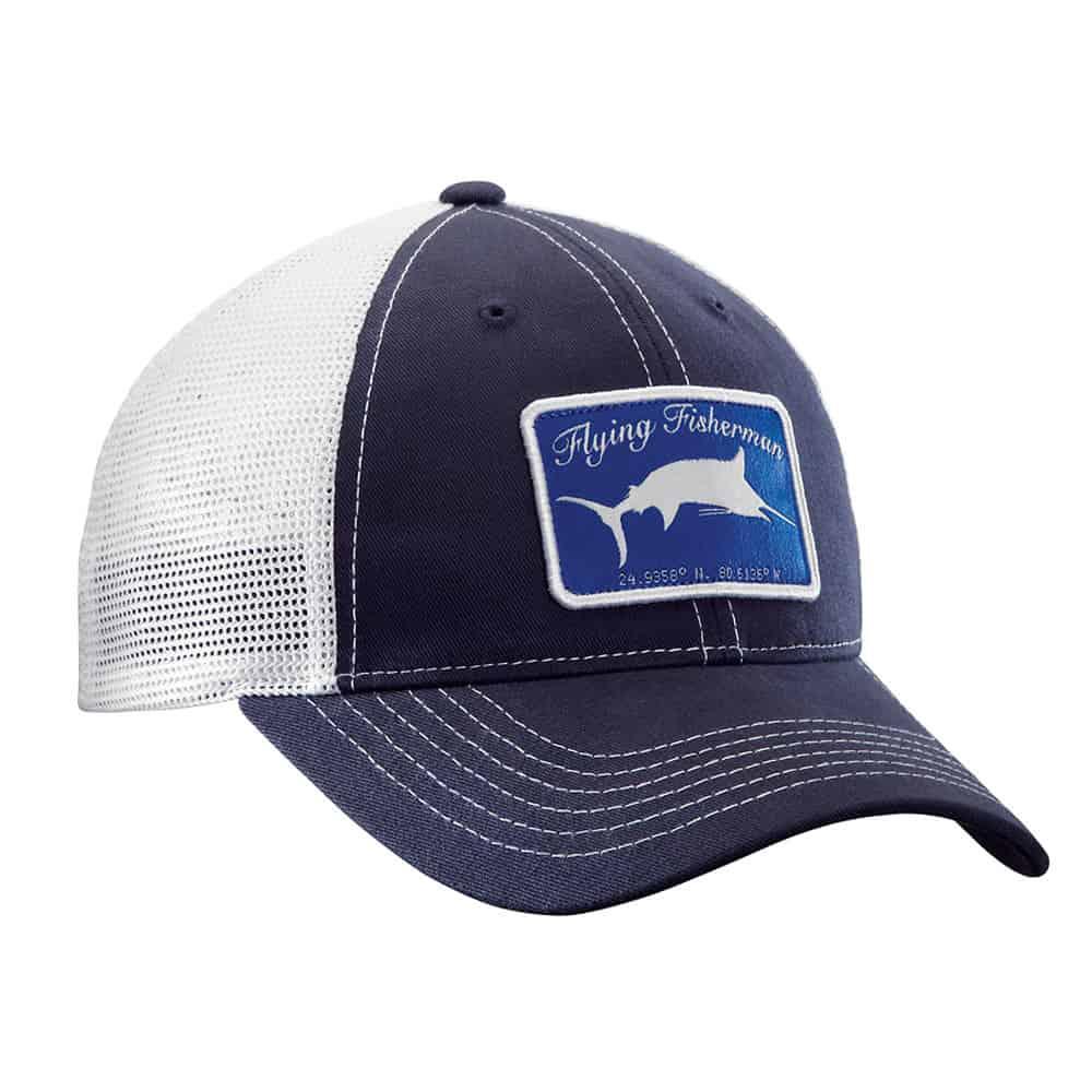 Flying Fisherman Marlin Trucker Hat Navy White