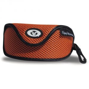 Flying Fisherman Sunglasses Case Orange Mesh