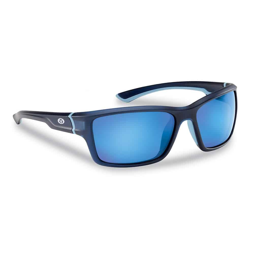 Flying Fisherman Sunglasses Cove Crystal Navy Smoke Blue Mirror