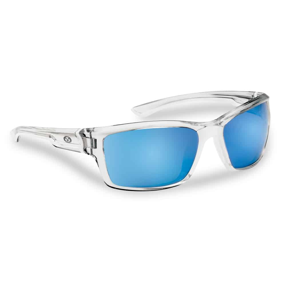 Flying Fisherman Sunglasses Cove Crystal Smoke Blue Mirror
