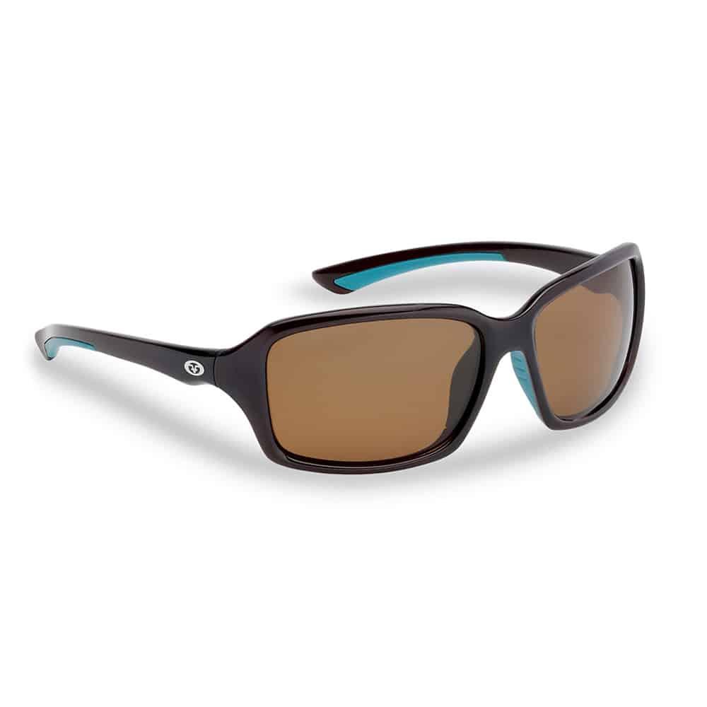 Flying Fisherman Sunglasses Kili Brown Teal Amber