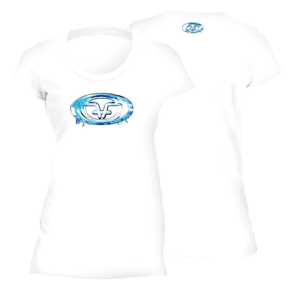 Flying Fisherman Water Logo Ladies Tee White