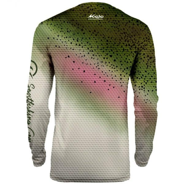 Mojo Sublimated Wireman Rainbow Trout Back