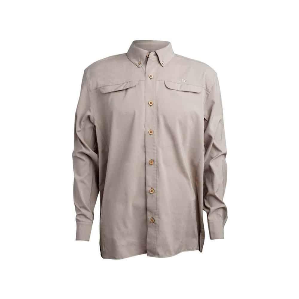 Mojo Mr Big Long Sleeve Shirt Oyster Front