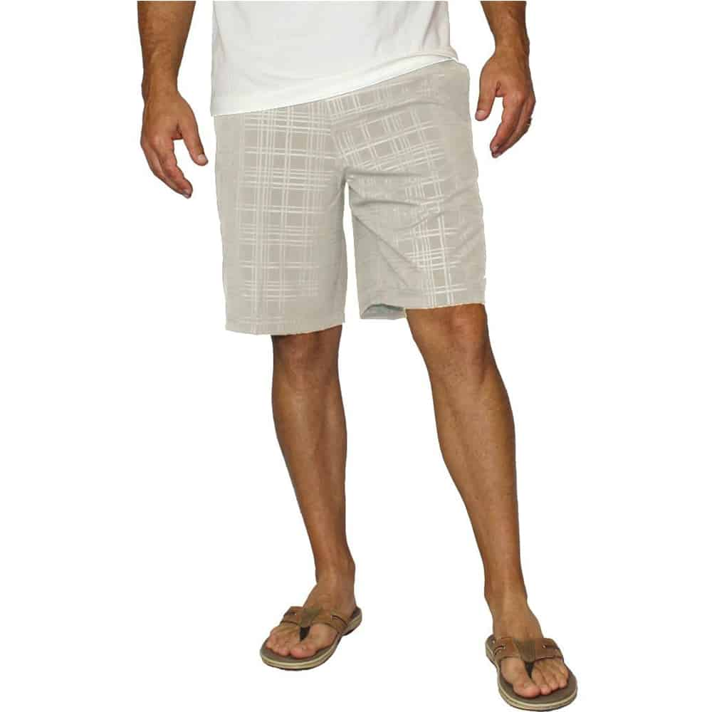 Mojo Plaid Tec Board Shorts Dune