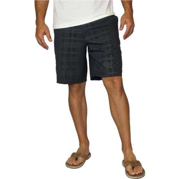 Mojo Plaid Tec Board Shorts Octopus Ink